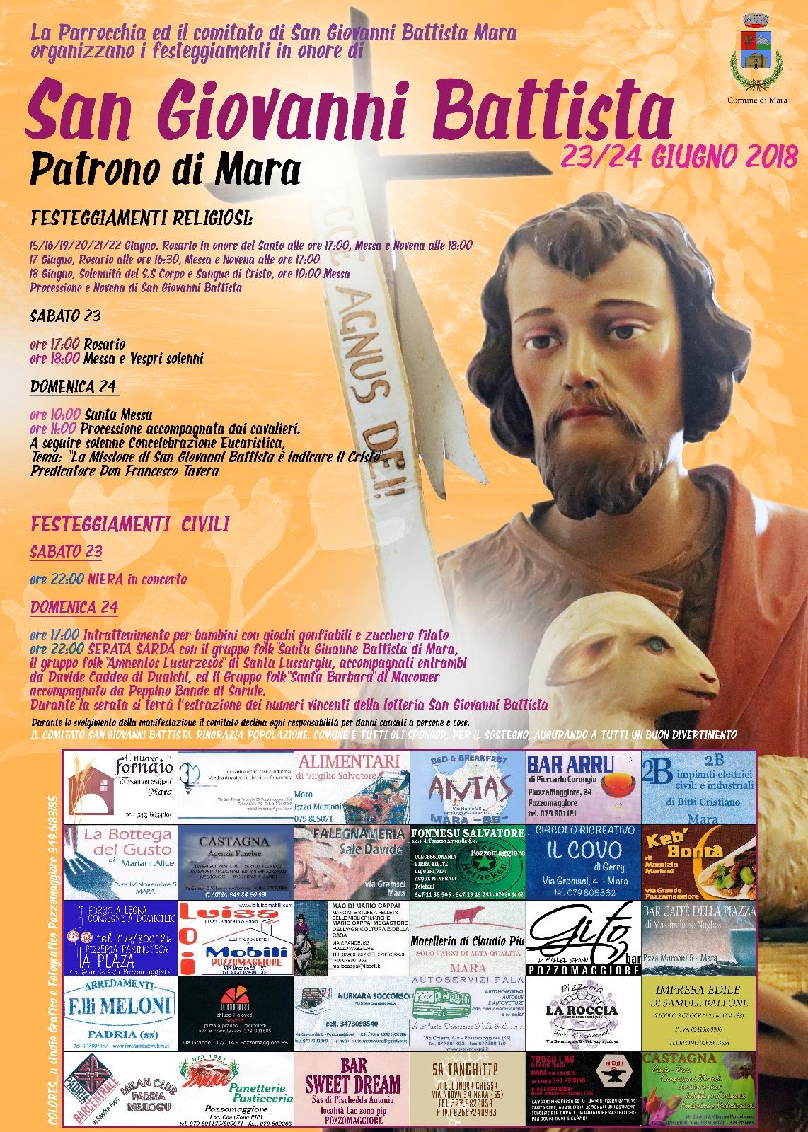 ORDINANZA n°06/2018 - FESTA PATRONALE SAN GIOVANNI BATTISTA
