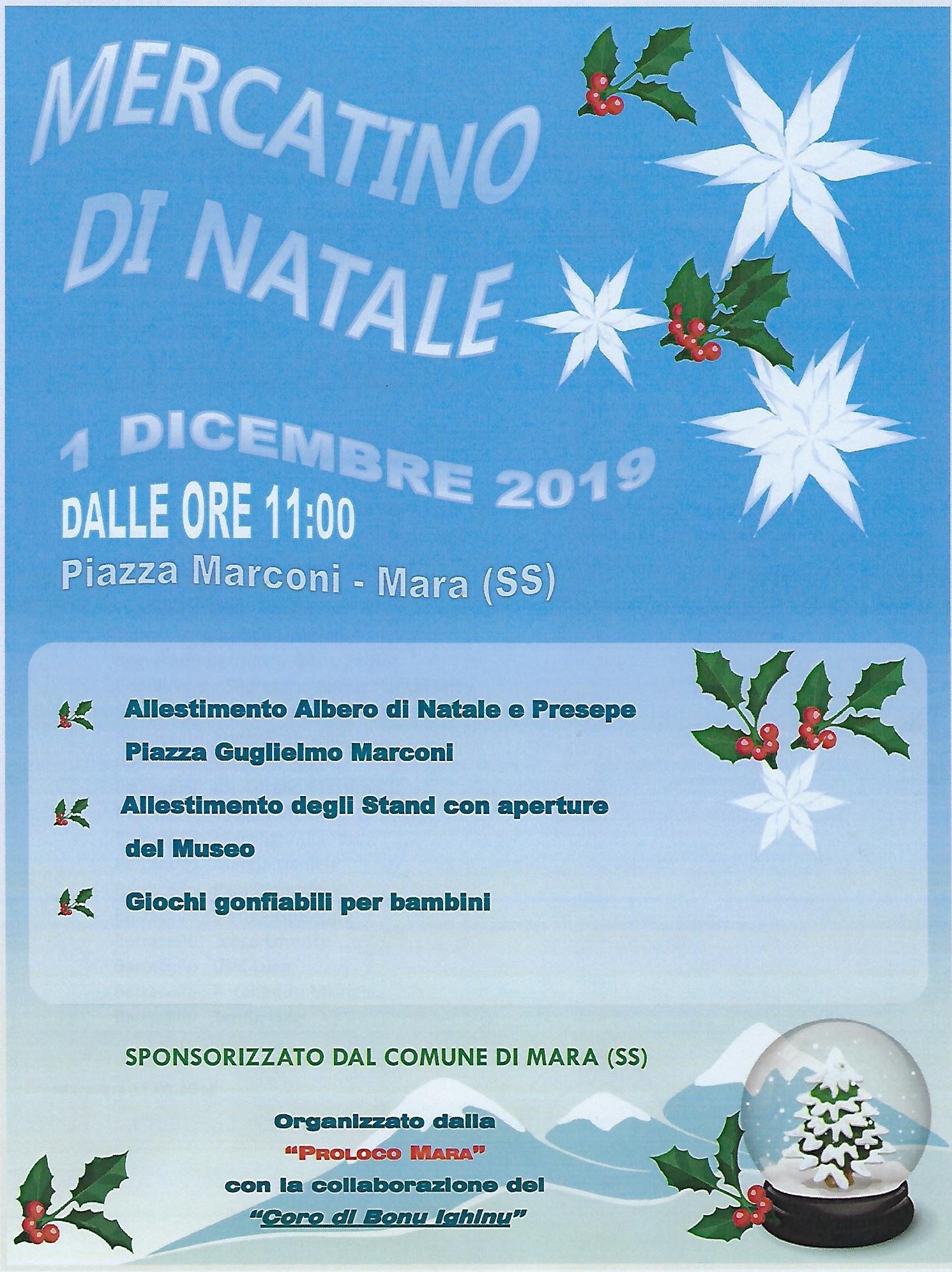 MERCATINO DI NATALE 01/12/2019 - MODULI PER GLI HOBBISTI