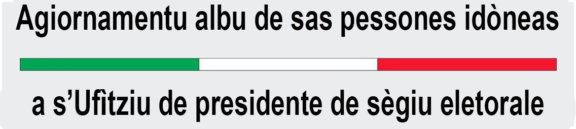 Agiornamentu albu de presidente de sègiu eletorale